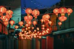 Linternas chinas del Año Nuevo en ciudad de China Imágenes de archivo libres de regalías
