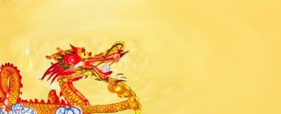 Linternas chinas del dragón del Año Nuevo en Chinatown stock de ilustración