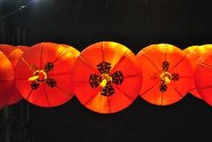 Linternas chinas del rojo del Año Nuevo Fotografía de archivo