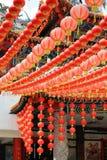 Linternas chinas del templo Fotografía de archivo
