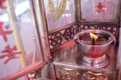 Linternas chinas del templo del viejo storn Foto de archivo