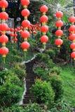 Linternas chinas en el templo chino Fotografía de archivo libre de regalías