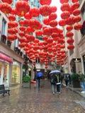Linternas chinas en Hong Kong Fotos de archivo libres de regalías