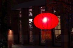 Linternas chinas en la noche por Año Nuevo lunar fotografía de archivo libre de regalías