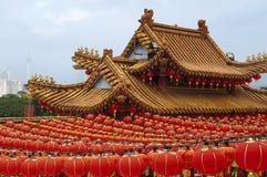 Linternas chinas rojas Foto de archivo libre de regalías