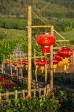 Linternas chinas rojas fotografía de archivo