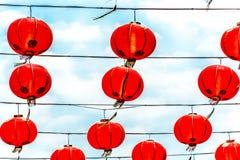 Linternas chinas rojas Fotos de archivo libres de regalías