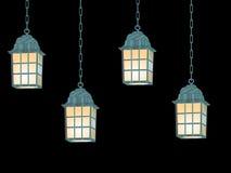 Linternas colgantes stock de ilustración