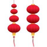 Linternas colgantes chinas del vector Imagen de archivo libre de regalías