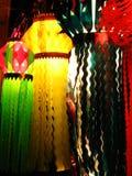 Linternas coloreadas imagen de archivo