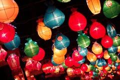 Linternas coloridas Fotografía de archivo