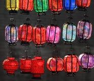Linternas coloridas Foto de archivo libre de regalías