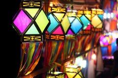 Linternas coloridas Foto de archivo