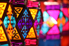Linternas coloridas de Diwali Imágenes de archivo libres de regalías