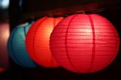 Linternas coloridas de Diwali fotos de archivo