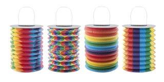 Linternas coloridas - decoración del partido Imagen de archivo
