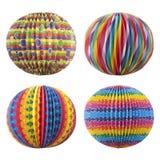 Linternas coloridas - decoración del partido Imagen de archivo libre de regalías