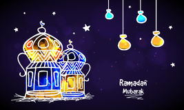 Linternas coloridas para Ramadan Mubarak