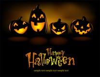 Linternas de Halloween Imagen de archivo libre de regalías