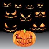 Linternas de Jack O y sistemas de Halloween Foto de archivo libre de regalías