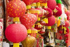 Linternas de KUALA LUMPUR, MALASIA por el Año Nuevo chino Imagenes de archivo