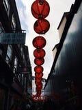 Linternas de la ciudad de China imágenes de archivo libres de regalías