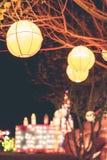 Linternas de la ejecución en un festival ligero en la isla de Bali, Indonesia Imágenes de archivo libres de regalías