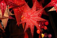 Linternas de la estrella Imagen de archivo libre de regalías