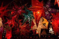Linternas de la estrella Fotografía de archivo