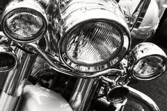 Linternas de la motocicleta fotografía de archivo