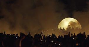 Linternas de Loi Krathong almacen de metraje de vídeo
