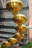 Linternas de oro Fotos de archivo