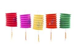 Linternas de papel chinas Imagen de archivo libre de regalías