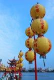 Linternas de papel chinas Fotografía de archivo libre de regalías