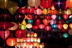 Linternas de papel coloridas Fotografía de archivo