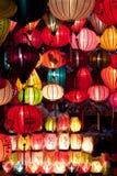 Linternas de papel coloridas Imágenes de archivo libres de regalías