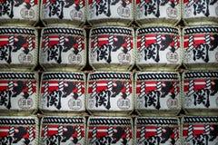Linternas de papel en el templo de Sensoji Foto de archivo
