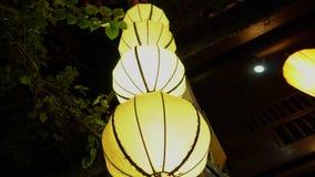 Linternas de papel en Hoi An, Vietnam almacen de metraje de vídeo