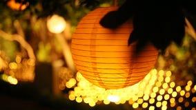 Linternas de papel redondas Decoraciones de la boda almacen de metraje de vídeo