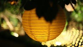 Linternas de papel redondas Decoraciones de la boda metrajes