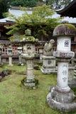 Linternas de piedra Nara, Japón fotografía de archivo libre de regalías