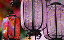 Linternas de seda Fotografía de archivo libre de regalías