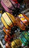 Linternas de seda Imágenes de archivo libres de regalías