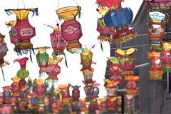Linternas de seda chinas Imagen de archivo