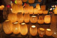 Linternas de seda en Hoi una ciudad, Vietnam Imagen de archivo
