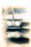 Linternas de un coche de la vendimia Foto de archivo libre de regalías