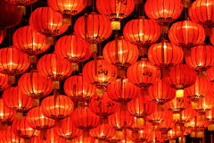Linternas del Año Nuevo imagen de archivo libre de regalías