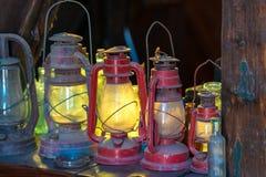 Linternas del aceite del vintage Imagenes de archivo