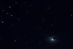 Linternas del cielo Fotografía de archivo libre de regalías