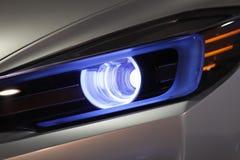 Linternas del coche imagenes de archivo